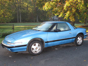 1990 Buick Reatta Blue coupe
