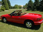 1990 Buick Reatta Red Convertible