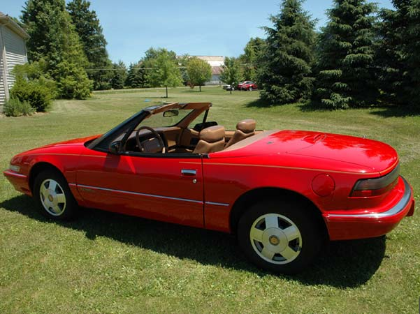 1990 Red Buick Reatta Convertible - $19,900